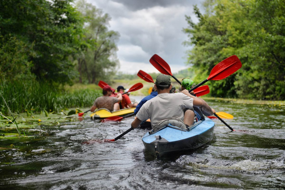 Corporate incentive travel river rafting kayaking