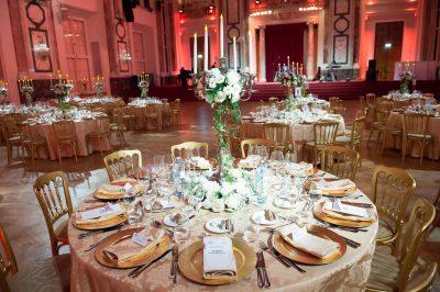 Vienna Palace Gala Dinner Tables Ready