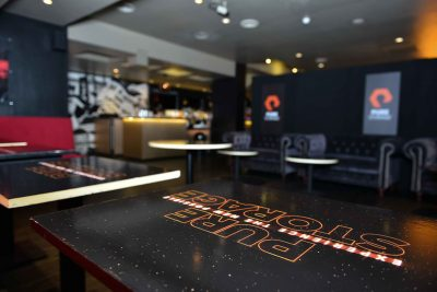 Private Star Wars Screening branded bar tables 2