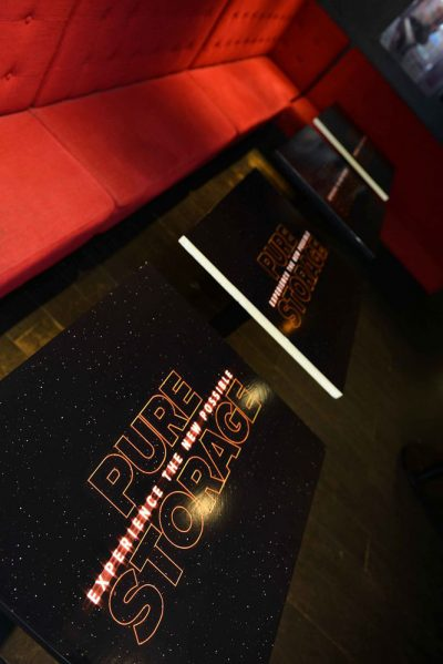 Private Star Wars Screening branded bar tables