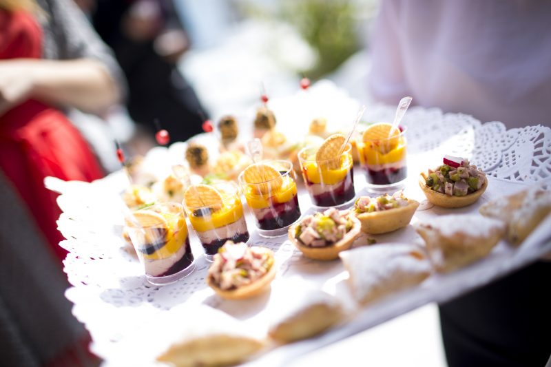Corporate Hospitality Platter of beautifully prepared canapés