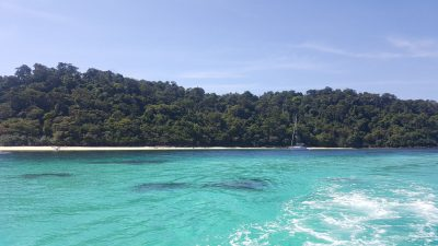 Incentive travel to Thailand beach from boat