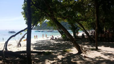 Incentive travel to Thailand beach with shaded trees