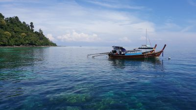 Incentive travel to Thailand boat in water